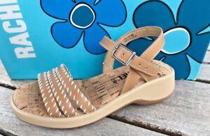 Little Girls Bone Leather Sandals by Rachel  Open Toe Little Girls Size 8  Sale