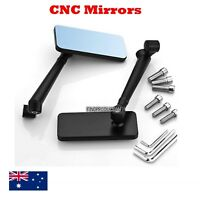 CNC black universal rear view motorcycle mirrors 8/10 mm Yamaha Suzuki Kawasaki