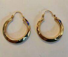 9ct gold Creole  hoop earrings - 1.8 gms
