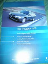 Peugeot 406 Rapier brochure Apr 2000