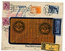 L317 1934 Austria AVIATION Registered Airmail 1S EAGLE Cover {samwells-covers}
