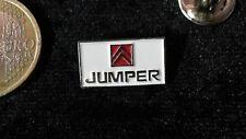 Citroen Pin Badge JUMPER Logo Emblem weiss rot Schriftzug