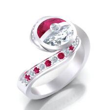 Pokemon Ring Diamant Verlobung Pokeball Ring Cosplay Stil Weiß Gold Finish