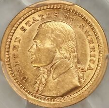 1903 Louisiana Purchase, Jefferson Commem G$1 PCGS AU58