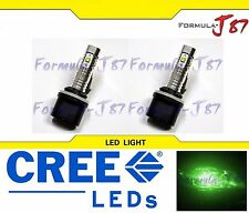 CREE LED 30W 880 H27 GREEN TWO BULB FOG LIGHT REPLACEMENT OFF ROAD LAMP FIT JDM