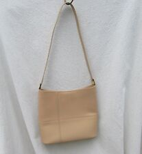 Etienne Aigner Vintage Handbag Tan Leather Shoulder Bag Pocketbook Purse