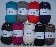 RICO DESIGN FASHION/FAUX FUR CHUNKY WOOL/YARN - 50g BALLS - KNITTING/CROCHET