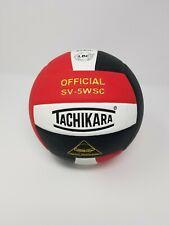 Tachikara SV5WSC Sensi-Tec Composite  Volleyball (Red, Wht, Black)