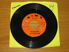 """NORTHERN SOUL 45 RPM - WALLACE BROS. - SIMS 220 -""""GO ON GIRL"""" + """"ONE WAY AFFAIR"""""""