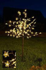 Solar Lichterbaum 128 LED - Ahornbaum warmweiß - Garten Deko Leuchtbaum Außen