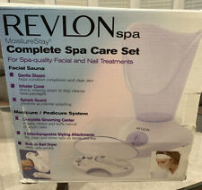 Revlon Spa Complete Spa Care set -Facial Sauna,Manicure/Pedicure Set- Open Box