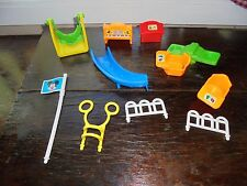 Vintage Arco Disney Mickey Mouse Park School Play Set Pieces Toys Lot