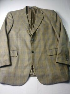 New Daniel Hechter Mens Sport Coat Sz 44R Brown Check Two Button Dual Vent Wool