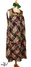 Cool Cotton Print Vintage Dress, Ric Rac Trim, Pockets - Plus Size XXL - Hey Viv