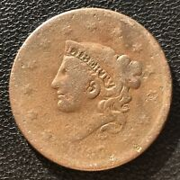 1837 Large Cent Coronet Head One Cent  1c  #7006