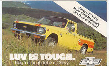 Chevy LUV 4x4 Pick Up Truck 1979 Period postcard