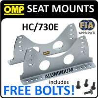 SALE! HC/730E OMP RACING ALUMINIUM SILVER SEAT MOUNT SIDE BRACKETS BUCKET SEATS