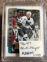 1996–97 Pinnacle Be A Player Hockey Card Set # 1 to 110
