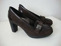 SCHOLL DREAMY F223911019 Shoes Schuhe Pumps Damen Leder Dunkelbraun Gr.41 NEU