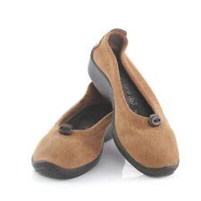 Arcopedico Brown Fabric Ballet Flats Slip On Comfort Shoes Womens 37 US 7