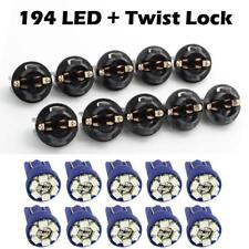 10pcs Pc168 194 W5w 13mm Twist Lock Wedge Blue Instrument Panel Dash Led Light