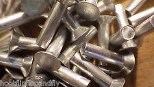 """25 X 1/8 """"x 3/4"""" de cabeza avellanada Aluminio Sólido Remaches Modelo ferrocarril de vapor Punk"""
