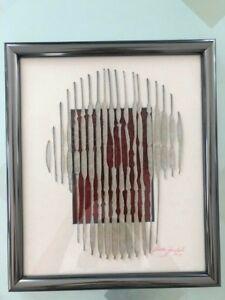 Skull Plexiglas Acrylic Mixed Media Framed Art Piece