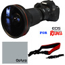 HD 240° FISHEYE LENS + RED STRAP FOR CANON EOS REBEL SL1 1300D T6 T5 6D 60D 80D
