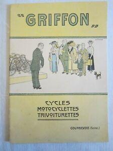 catalogue ancien automobiles cycles GRIFFON
