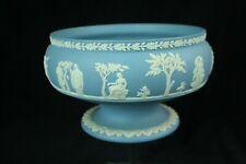 Vintage Wedgwood light blue Jasper - jasperware footed bowl (1954)