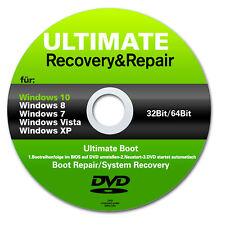 Ultimate Boot & Repair CD/DVD| Windows 10 |8 | 7| Vista| XP ★ PC REPARATUR 32+64