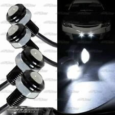 2x Pairs White LED DRL 18mm x 30mm 12V 3W Eagle Eye Daytime Running Light Lamps