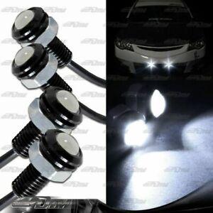 2x Pairs White LED DRL 18mm x 30mm 12V 3W Eagle Eye Daytime Running Light Lamps