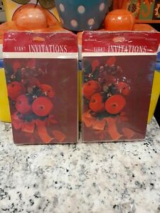 Vintage Hallmark Christmas A Holiday Open House 16 Cards Total  Invitations NEW