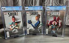 SHURI #1-2-3 2ND PRINT SET CGC #1-9.8 #2-9.4 #3-9.6 LOW PRINT Marvel Blk Panther