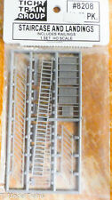 Tichy Train Group HO #8208 Staircase & Landings (Includes Railings) Plastic