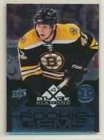 2008-09 Black Diamond Quad Diamond Rookie Gems 191 Blake Wheeler Boston Bruins