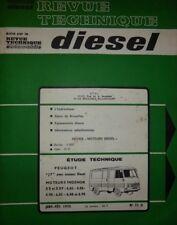 Revue technique DIESEL fourgon PEUGEOT J7 moteur INDENOR XD XDP  RTA 71D 1975
