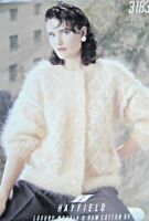 "Hayfield Knitting Pattern 3183- Ladies/Teens Mohair Cardigan 28""-40""- Not a copy"