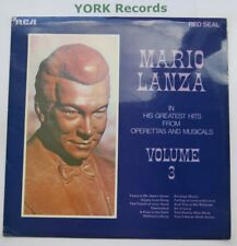 MARIO LANZA - His Greatest Hits From Operettas & Musicals Vol 3 - Ex LP Record