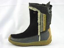 Tecnica Charcoal BLK Mukluk Shearling Insole Snow Winter Boot Italy Women's 6.5M