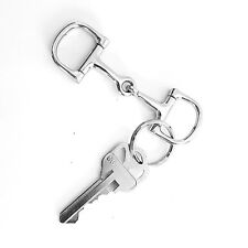 D Snaffle Bit Key Chain Western Novelty Gift Moveable