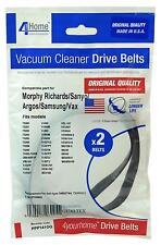 VACUUM BELTS PACK OF 2 MORPHY RICHARDS Manufacturers Spares