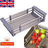 Over the Sink Roll Up Dish Drying Rack Stainless Steel Colander Dish Drainer L