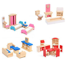 More details for 5 set of mini furniture miniature wooden adorable furniture toy for mini house