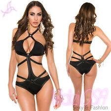 Monokini Sexy Costume da Bagno Intero Donna Bondage Style Moda Mare Piscina