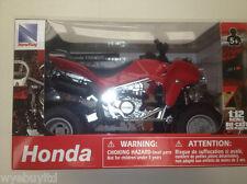 Newray Honda TRX 450R Quad 1:12 Scala Rosso Pressofuso & Modellino Plastica Quad