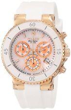 Mulco Women's MW370604013 'Blue Marine' Chronograph White Rubber Watch