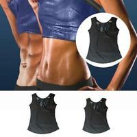 Sweat Sauna Shaper Women Men Slimming Sport Polymer Vest Weight Loss Tank Top US