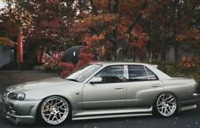 NISSAN R34 GTT GT SKYLINE 4 DOOR TYPE R STYLE REAR OVER FENDERS JSAI AERO